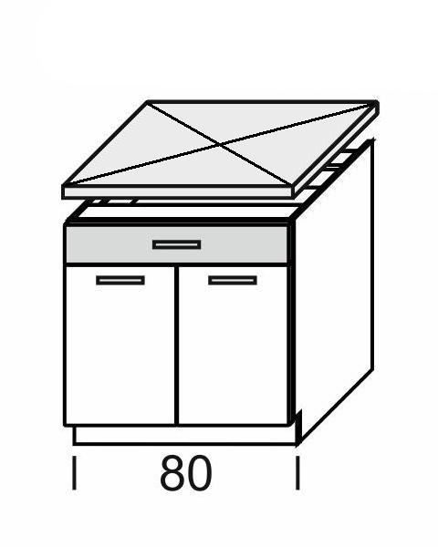 Extom KAMDUO, dolní skříňka DUO DS8/1, modřín/hruška