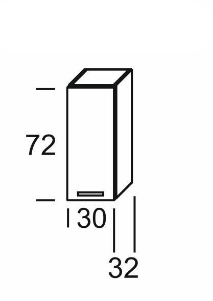 Extom KAMDUO, horní skříňka DUO W3, zebrano/hruška