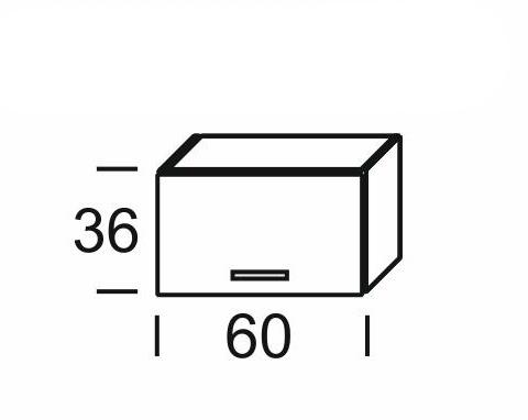 Extom KAMDUO, digest. skříňka DUO WO6/36, tráva/ořech