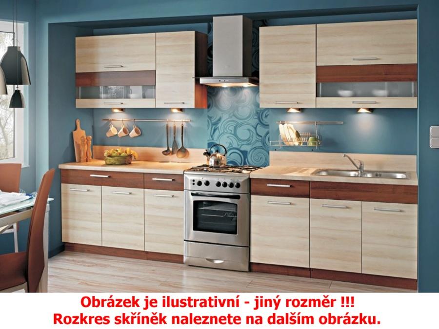 Extom Kuchyně KAMMDUO 320/260, hruška/ořech