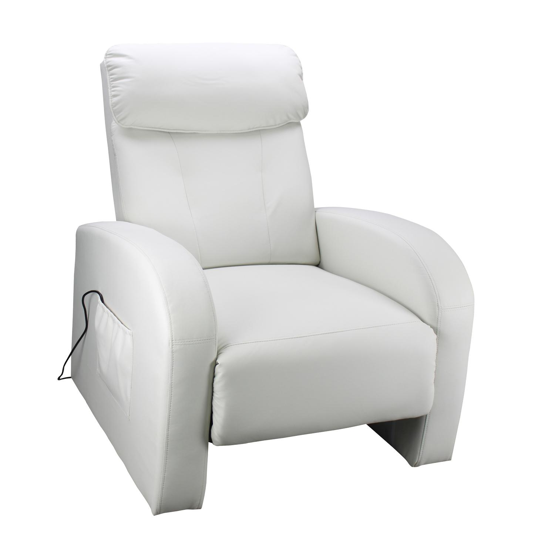 Idea Relaxační masážní křeslo Toledo, bílá