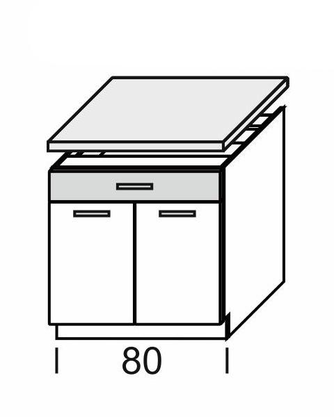 Extom KAMDUO, dolní skříňka DUO DS8/1+PD, modřín/hruška