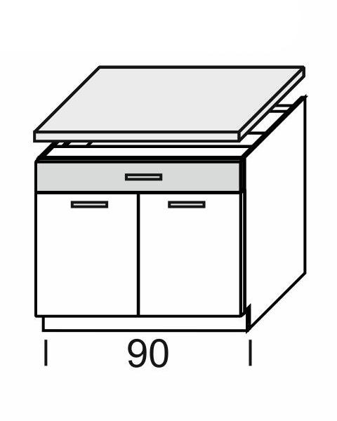 Extom KAMDUO, dolní skříňka DUO DS9/1+PD, tráva/ořech