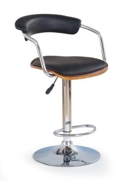 Halmar Barová židle H-19, ořech/černá