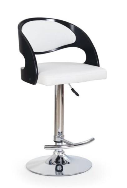 Halmar Barová židle H-18, černo-bílá