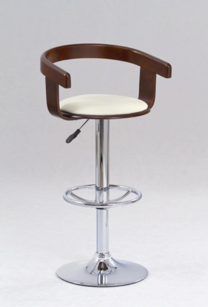 Halmar Barová židle H-8, třešeň antická/béžová
