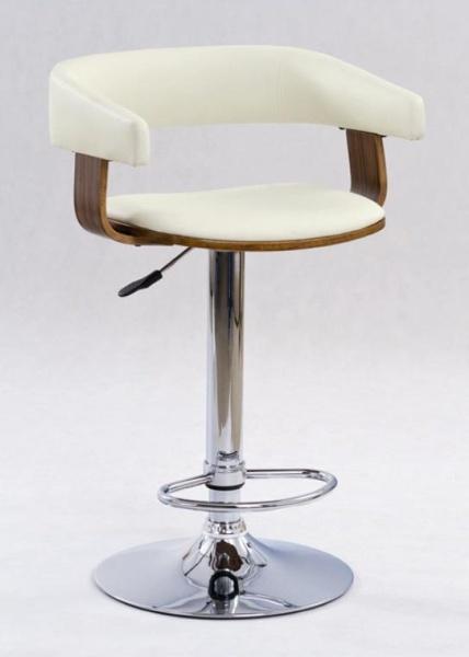 Halmar Barová židle H-12, ořech/béžová