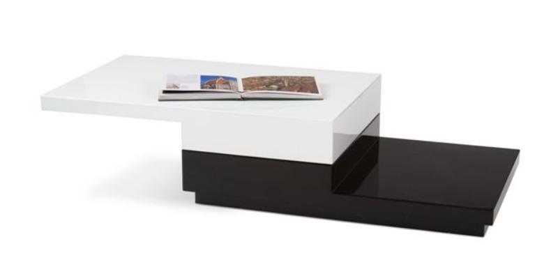 Halmar Konferenční stolek MONTANA, bílo-černá