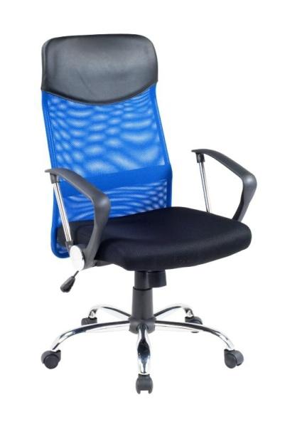 Kancelářské křeslo VIRE, černá/modrá