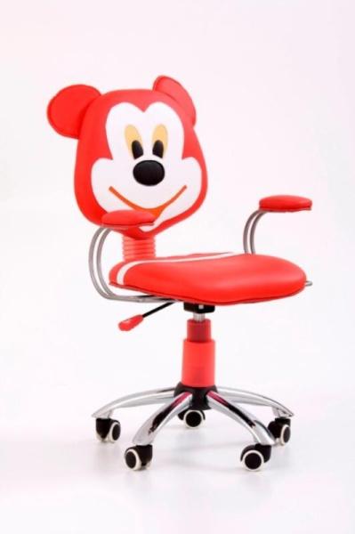 Halmar Dětská židle MIKE, červená/krémová