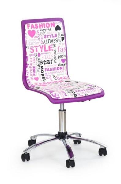 Halmar Dětská židle FUN-7, fialová