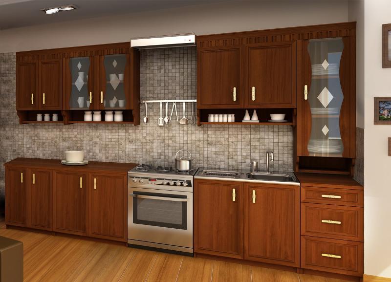 Kuchyně MARGARET 3, 260 cm, ořech