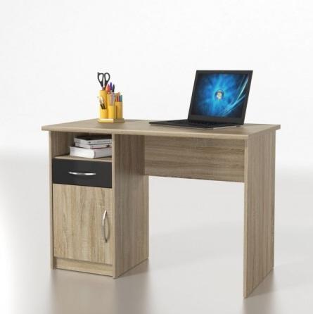 Psací stůl MICRO M08, dub sonoma/černá
