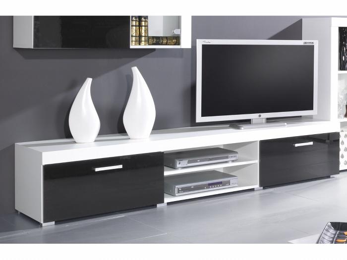 CAMA Televizní stolek SAMBA - Bílá/černá