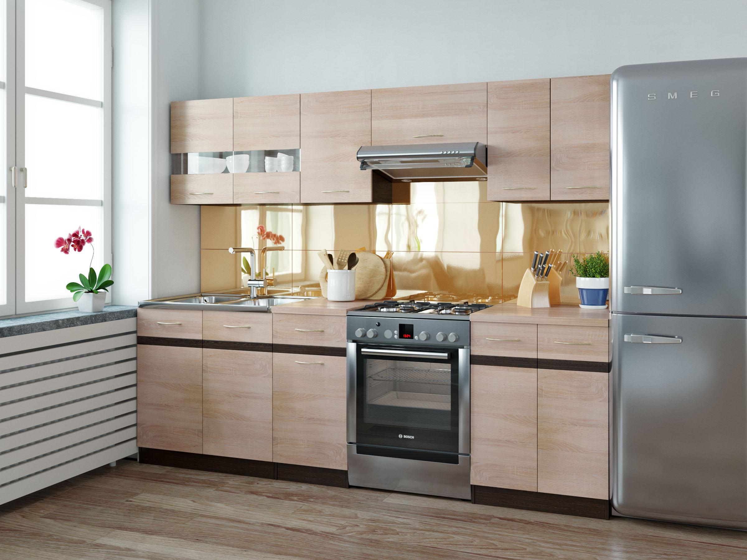 BRW Kuchyňe Junona 180/240 dub sonoma