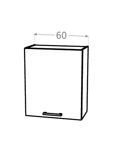 KAMDUO, horní skříňka DUO W6.1, zebrano/hruška