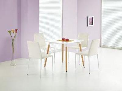 Halmar Jídelní stůl SOCRATES čtverec, bílý