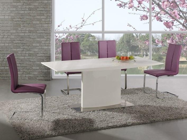 Halmar Jídelní stůl ELIAS, bílý lesk