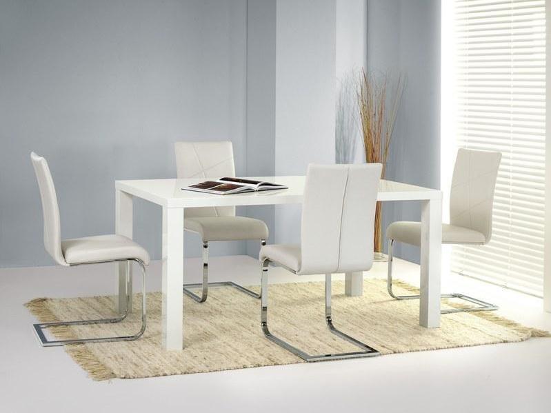 Smartshop Jídelní stůl rozkládací RONALD 160, bílý lesk