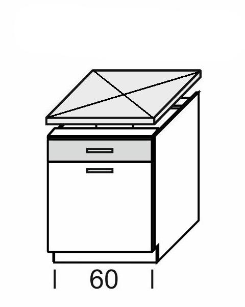 KAMDUO, dolní skříňka DUO DS6/1, dub sonoma/láva