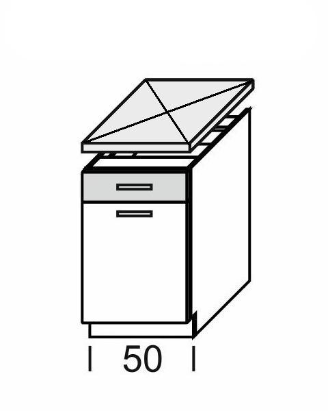 KAMDUO, dolní skříňka DUO DS5/1, dub sonoma/láva
