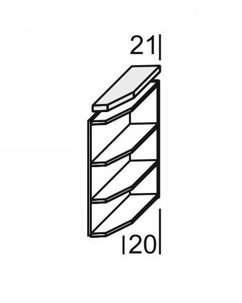 KAMDUO, dolní roh DUO DK2+PD pravý, dub sonoma