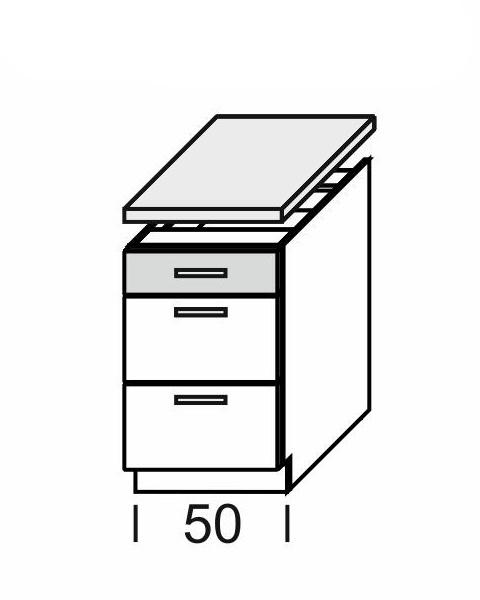 KAMDUO, dolní skříňka DUO DS5/3+PD, dub son./láva