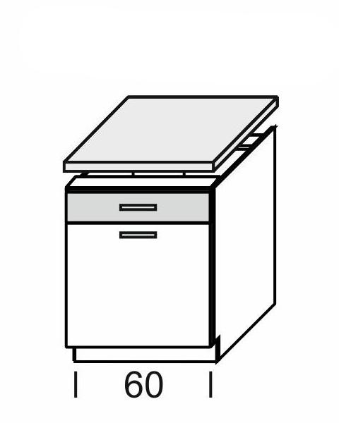 KAMDUO, dolní skříňka DUO DS6/1+PD, dub son./láva