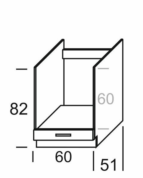 KAMDUO, dolní skříňka DP6, dub sonoma/láva