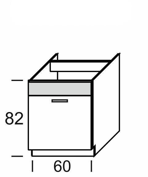 KAMDUO, dolní skříňka DUO DZ6, dub sonoma/láva