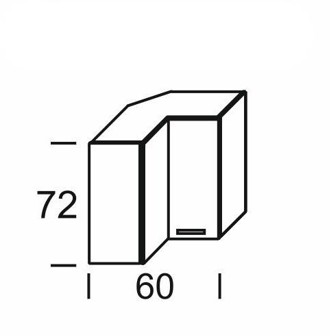 Extom KAMDUO, horní skříňka roh. DUO WRP6, dub sonoma