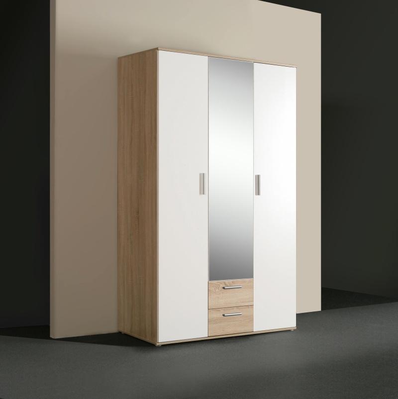 Forte kombinovaná skříň NANO, dub sonoma/bilá, (šxvxhl): 121x200x54 cm