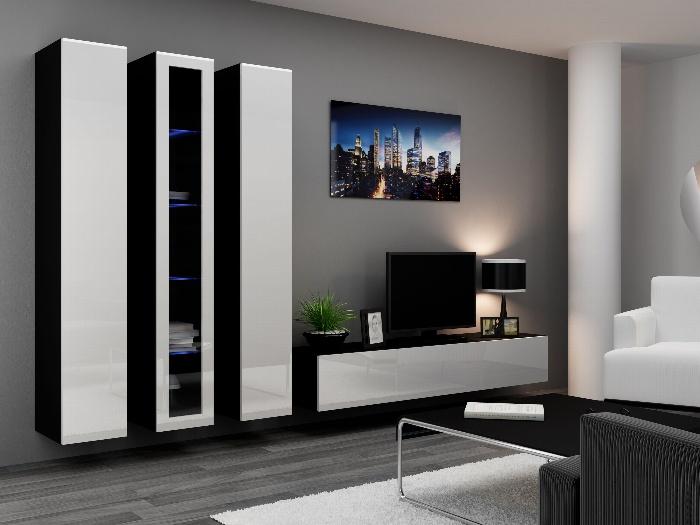 CAMA *Obývací stěna VIGO 2 B, černá/bílý lesk