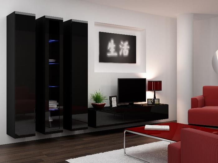 CAMA *Obývací stěna VIGO 2 B, černá/černý lesk