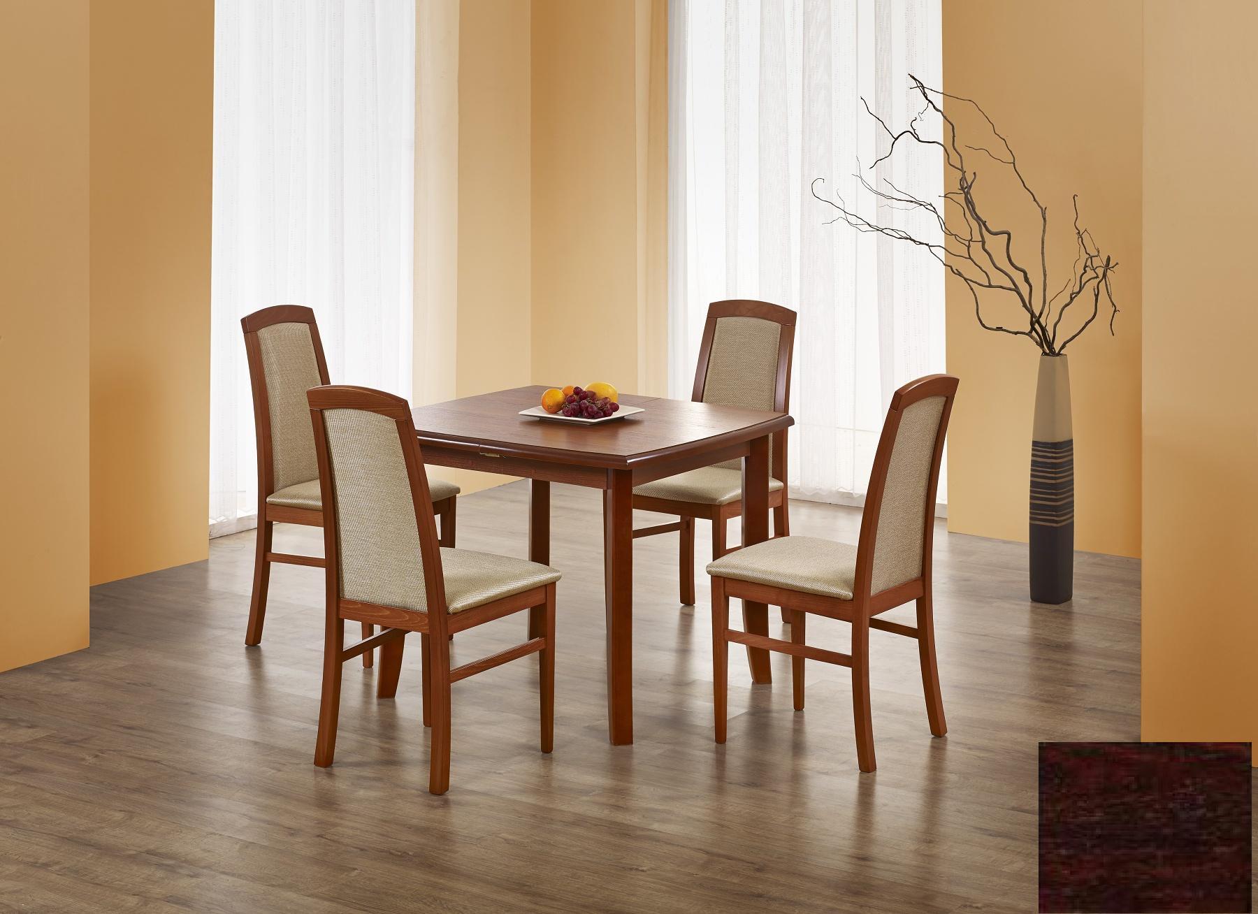 Halmar Jídelní stůl rozkládací FLORIAN, ořech tmavý