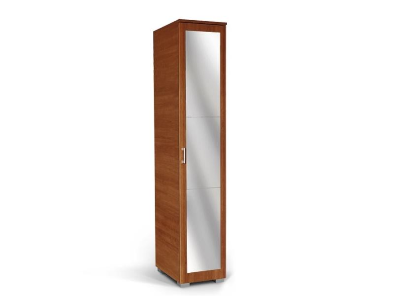 MATIS MILANO, skříň 1K1P se zrcadlem, třešeň