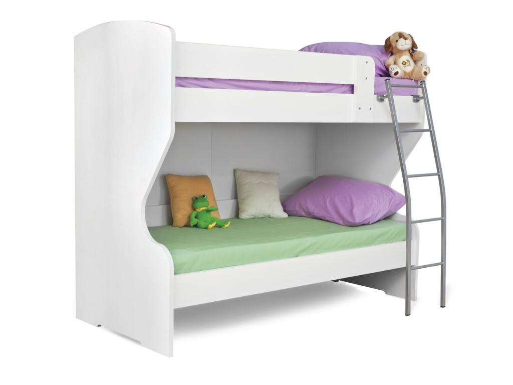 MATIS BAMBI/HAPPY, patrová postel, bílá