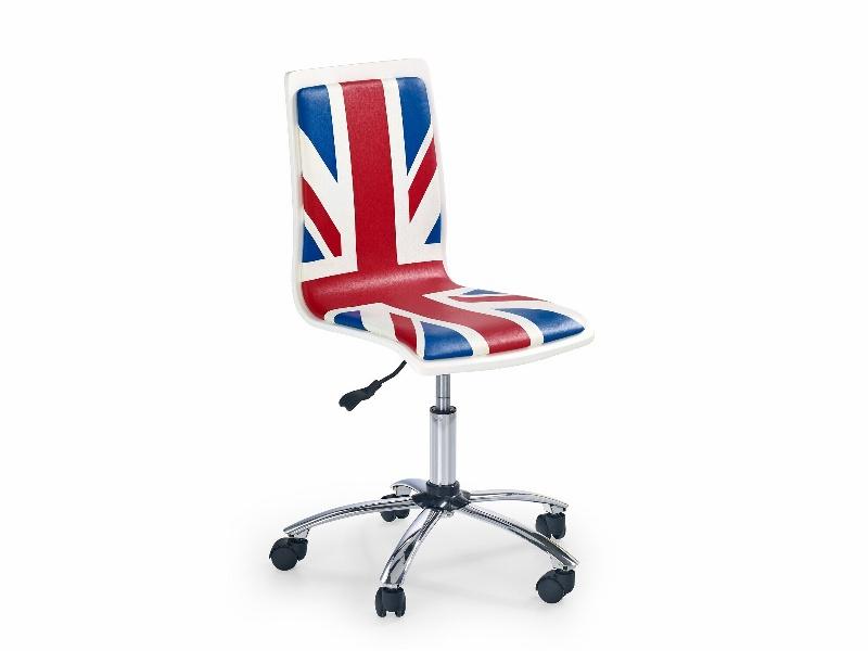 Halmar Dětská židle FUN-10, bílo-modrá