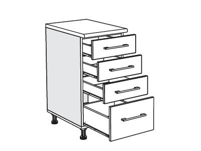 MATIS IN MDF, dolní skříňka D40 F, moka, prac. deska: