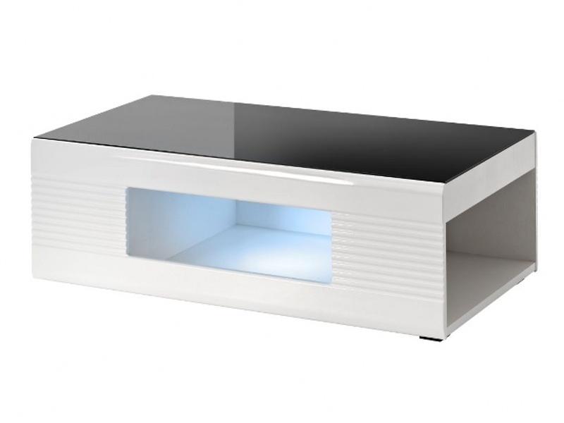 Smartshop PANDA, konferenční stolek, černý lesk/bílý lesk