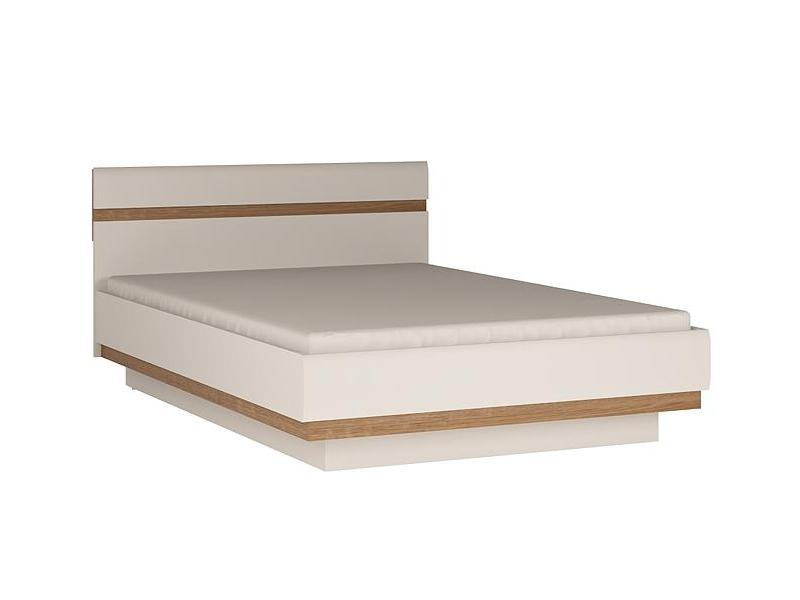 Extom LINATE/91, postel 140 cm, alpská bílá/trufla