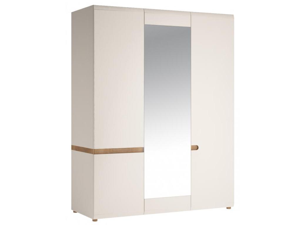SALMON skříň 3D, alpská bílá/trufla