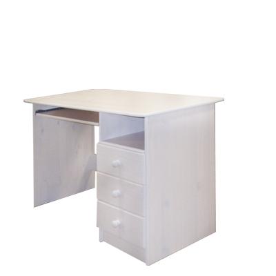 Idea PC stůl 8844B, masiv borovice bílý lak