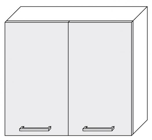 Extom *TITANIUM, horní skříňka W3 80, korpus: jersey