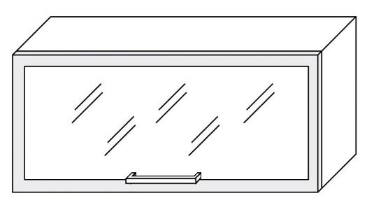 Extom TITANIUM, horní skříňka W4bs 80 ALU, korpus: jersey