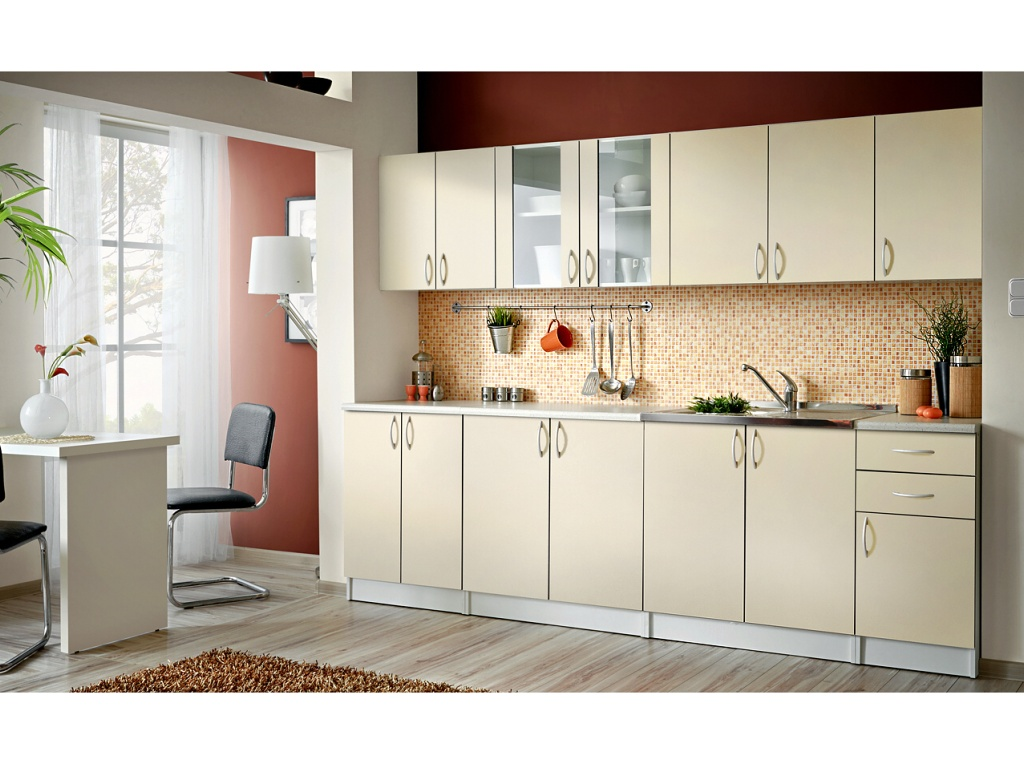 Smartshop Kuchyně JOLANA 260 cm, vanilka DOPRODEJ
