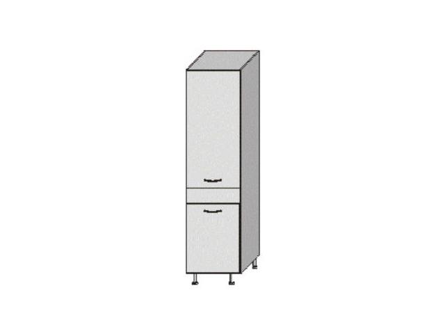 JURA NEW B, potravinová skříň, S-40, bílá/wenge