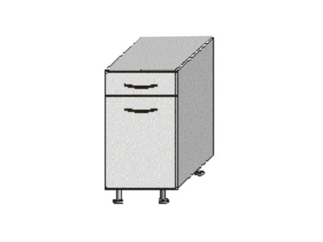 Tempo Kondela JURA NEW B, dolní skříňka D-40 S1, bílá/wenge