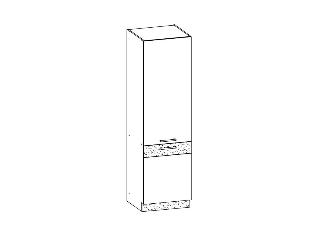 MODENA, potravinová skříň D60C, bílý lesk