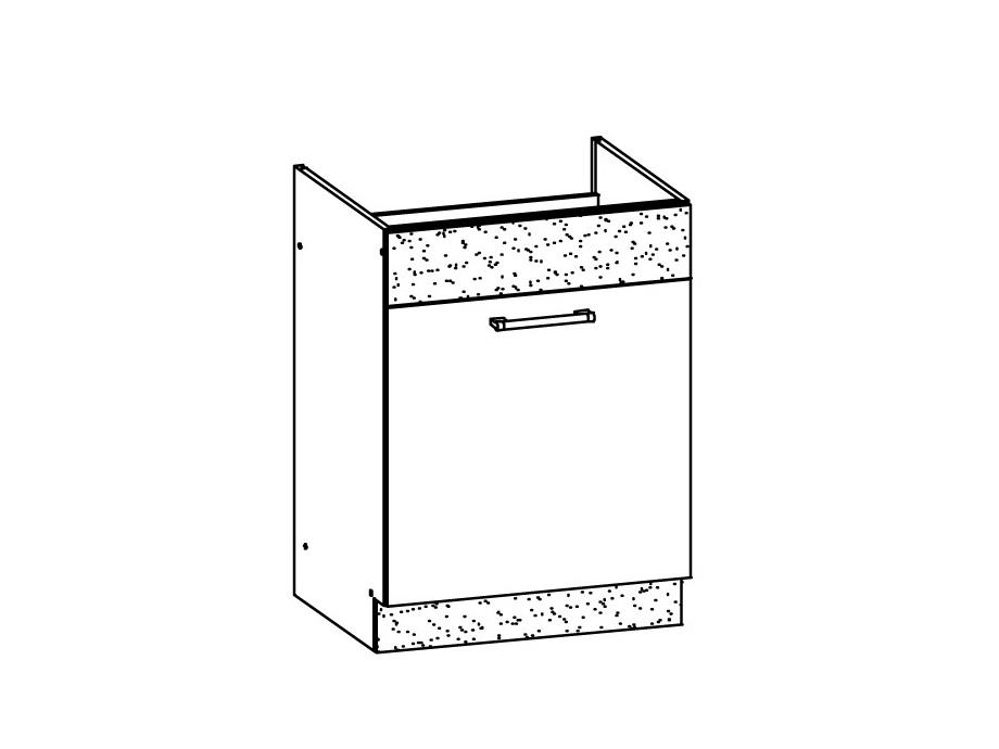 MODENA, skříňka pod dřez D60Z, bílý lesk